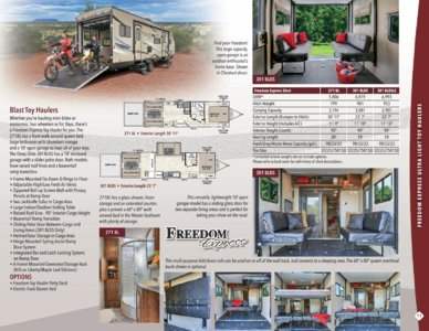 2017 Coachmen Freedom Express Brochure page 11
