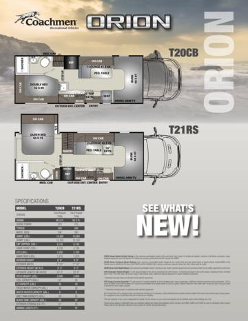 2017 Coachmen Orion Brochure