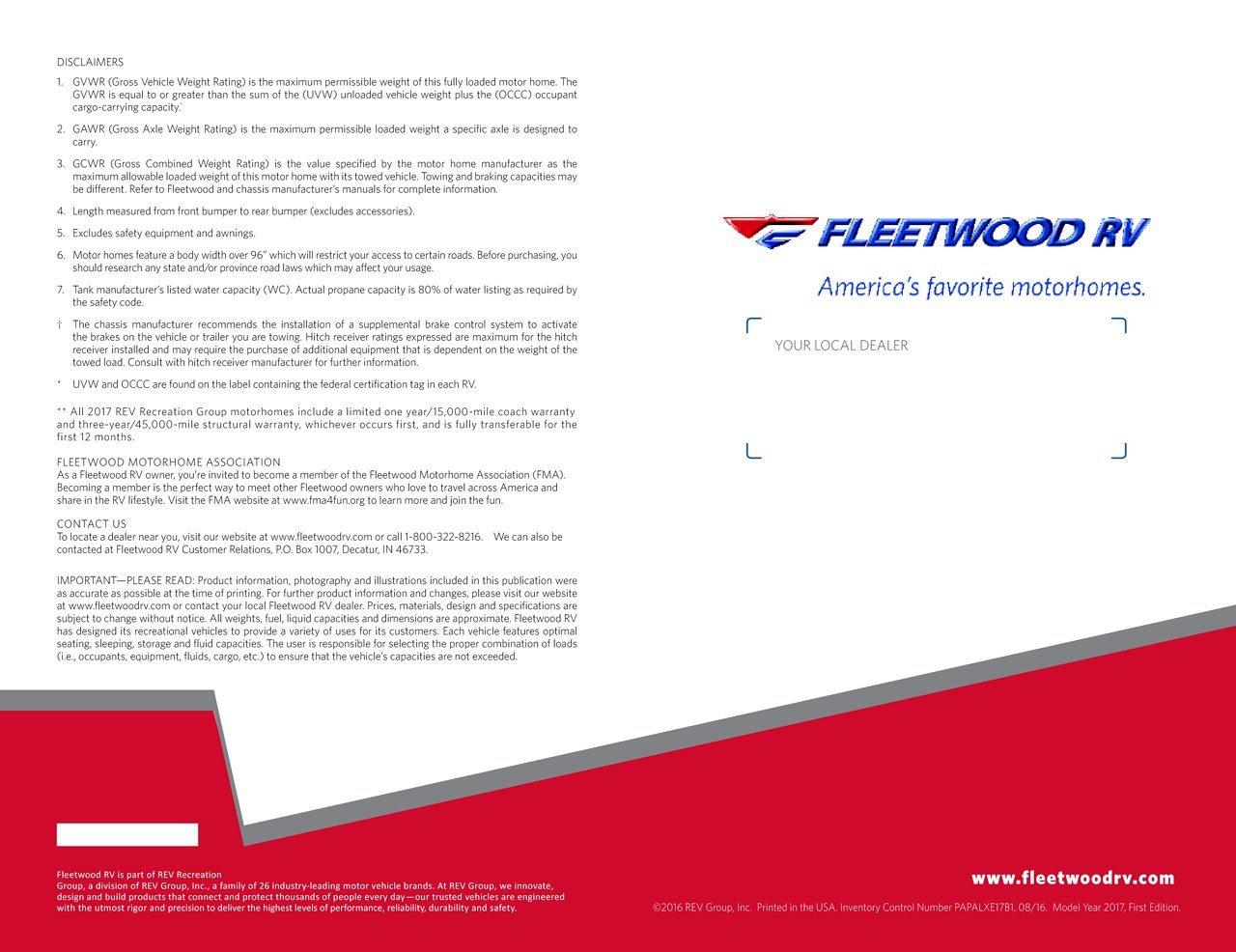 2017 Fleetwood Pace Arrow Pace Arrow Lxe Brochure | Download