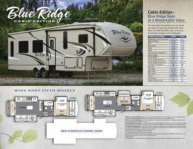 2017 Forest River Blue Ridge Cabin Edition Brochure page 1