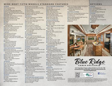 2017 Forest River Blue Ridge Cabin Edition Brochure page 2