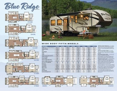 2017 Forest River Blueridge Brochure page 1