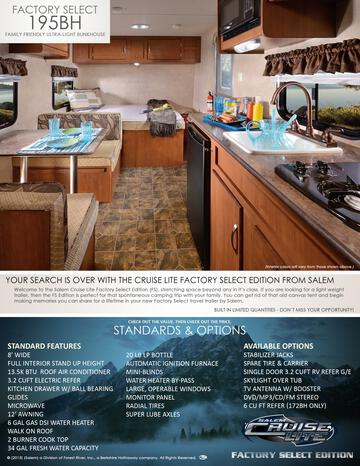 2017 Forest River Cruise Lite West Factory Select Brochure