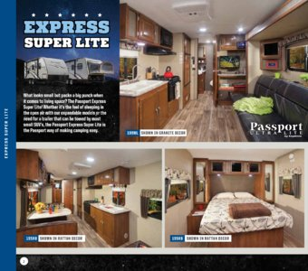 2017 Keystone RV Passport Brochure page 2