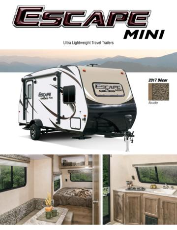 2017 KZ RV Escape Mini Brochure