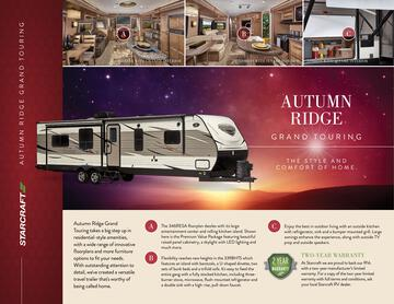 2017 Starcraft Fall Autumn Ridge Grand Touring Travel Trailer Brochure