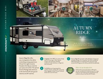 2017 Starcraft Fall Autumn Ridge Mini Travel Trailer Brochure