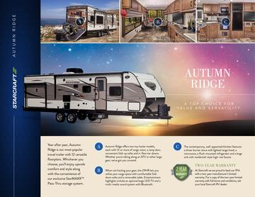 2017 Starcraft Fall Autumn Ridge Toy Hauler Brochure
