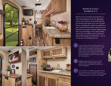 2017 Starcraft Fall Comet Mini Travel Trailer Brochure page 2
