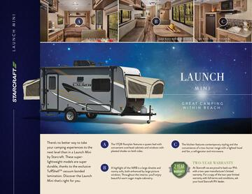 2017 Starcraft Fall Launch Mini Travel Trailer Brochure