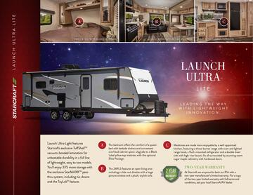 2017 Starcraft Fall Launch Ultra Lite Travel Trailer Brochure