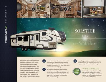2017 Starcraft Fall Solstice Lite Fifth Wheel Brochure