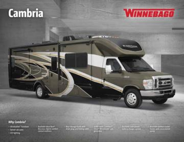2017 Winnebago Cambria Brochure
