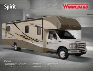2017 Winnebago Spirit Brochure