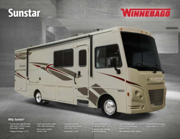 2017 Winnebago Sunstar Brochure