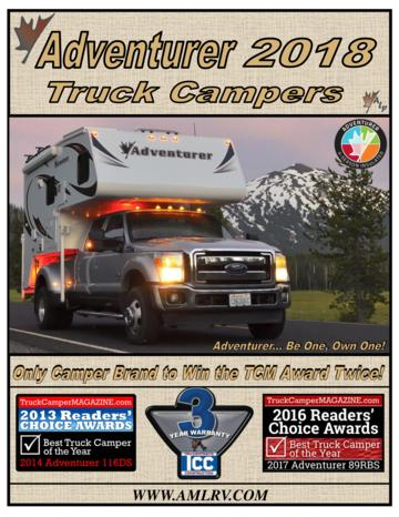 2018 ALP Adventurer Truck Campers Brochure