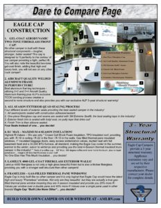 2018 ALP Eagle Cap Truck Campers Brochure page 3