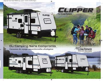 2018 Coachmen Clipper Travel Trailer French Brochure