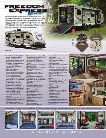 2018 Coachmen Freedom Express Blast French Brochure