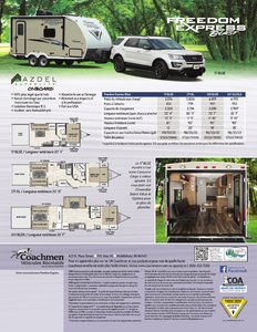 2018 Coachmen Freedom Express Blast French Brochure page 2