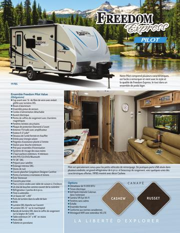 2018 Coachmen Freedom Express Pilot French Brochure