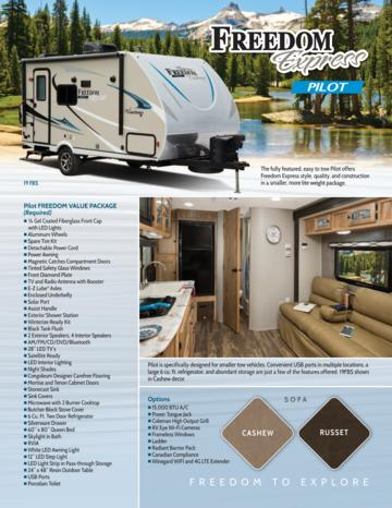 2018 Coachmen Freedom Express Pilot Brochure