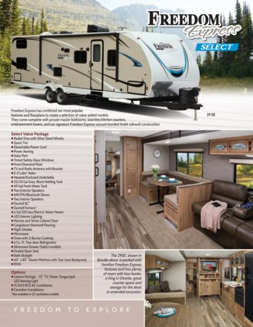 2018 Coachmen Freedom Express Select Brochure
