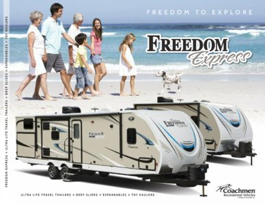2018 Coachmen Freedom Express Brochure page 1