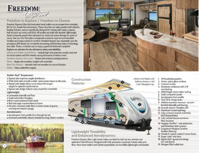 2018 Coachmen Freedom Express Brochure page 2