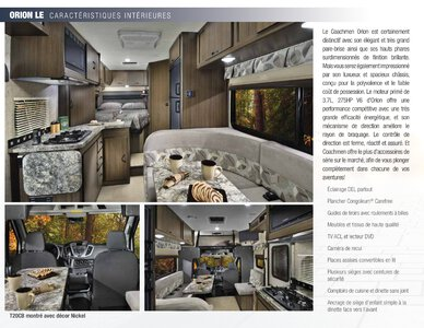 2018 Coachmen Orion French Brochure page 2