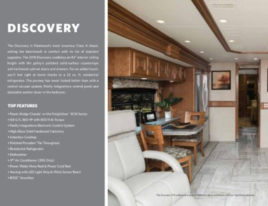 2018 Fleetwood Discovery Brochure page 2