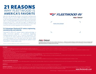 2018 Fleetwood Discovery Brochure page 12