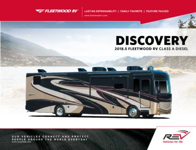 2018 Fleetwood New Discovery Brochure page 1