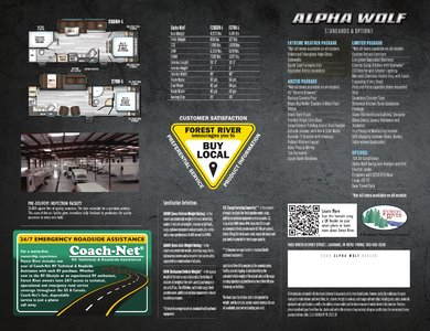 2018 Forest River Alpha Wolf Brochure page 2