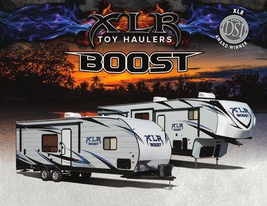2018 Forest River Boost XLR Brochure page 1