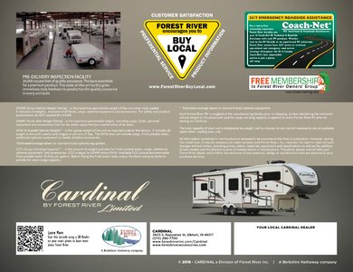 2018 Forest River Cardinal Limited Brochure page 8