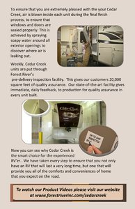2018 Forest River Cedar Creek Back To Basics Brochure page 15