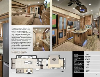 2018 Forest River Cedar Creek Champagne Brochure page 3