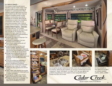 2018 Forest River Cedar Creek Hathaway Edition French Brochure page 3