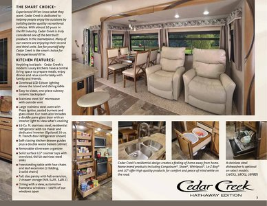 2018 Forest River Cedar Creek Hathaway Edition Brochure page 3