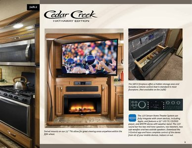 2018 Forest River Cedar Creek Hathaway Edition Brochure page 5