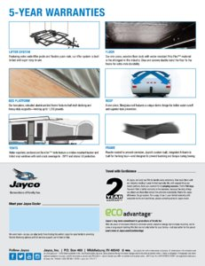 2018 Jayco Camping Trailer Brochure page 4
