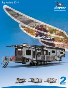 2018 Jayco Toy Haulers Brochure page 1