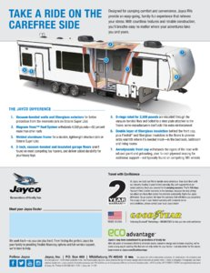2018 Jayco Toy Haulers Brochure page 20