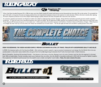 2018 Keystone Rv Bullet Eastern Edition Brochure page 2