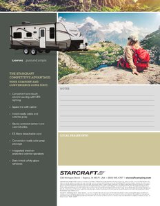 2018 Starcraft Avalon Travel Trailer Brochure page 3