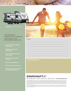 2018 Starcraft Launch Outfitter Travel Trailer Brochure page 3
