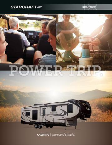 2018 Starcraft Solstice Fifth Wheel Brochure