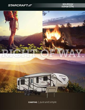 2018 Starcraft Solstice Super Lite Fifth Wheel Brochure
