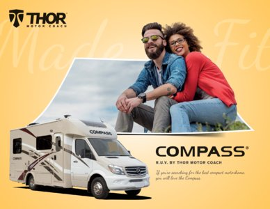 2018 Thor Compass Brochure page 1